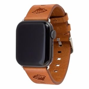 Minnesota Wild Leather Apple Compatible Watchband